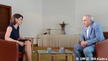 (c) DW/Evgeniya Nikolaeva Fotos wurden am in Mönchengladbach am 2. Juni von mir gemacht. Tags: Zhanna Nemtsova, Garri Kasparow, Nemtsova.Interview