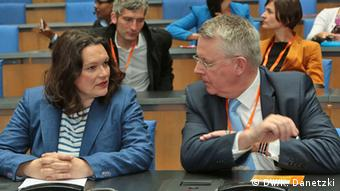Andrea Nahles und Peter Limbourg