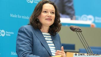 German Labor Minister and Social Democrat (SPD) Andrea Nahles