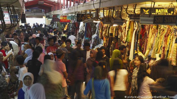 Indonesien Yogyakarta - Batik-Markt