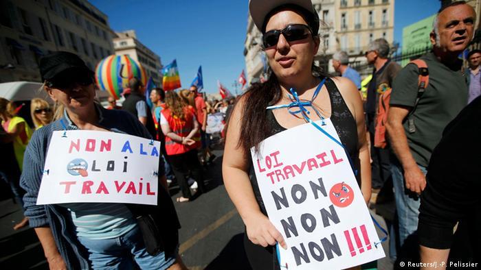 Frankreich Marseille nationaler Streik Demonstration