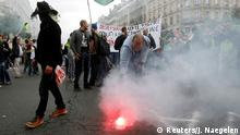 Frankreich Paris nationaler Streik Demonstration