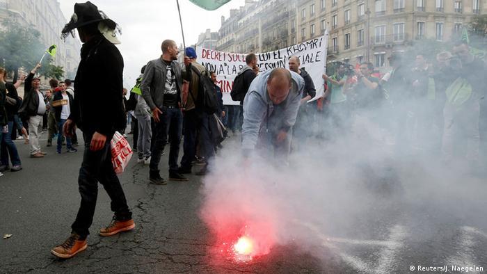 Frankreich Paris nationaler Streik Demonstration