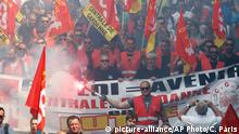 Frankreich Marseille nationaler Streik Demonstration