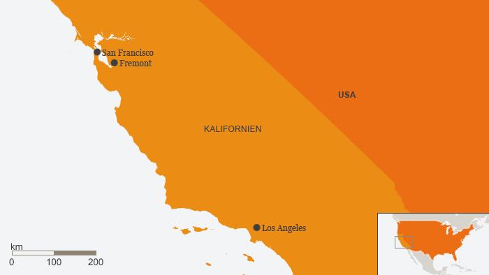 Karte Kalifornien Fremont Deutsch (Infografik: DW)
