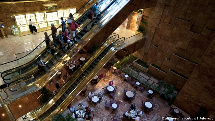 Trump Tower interiors, New York, copyright: picture-alliance/dpa/S.Reboredo
