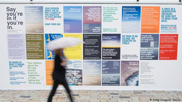 Anti-Brexit posters by Wolfgang Tillmans (Getty Images/J. Spicer)