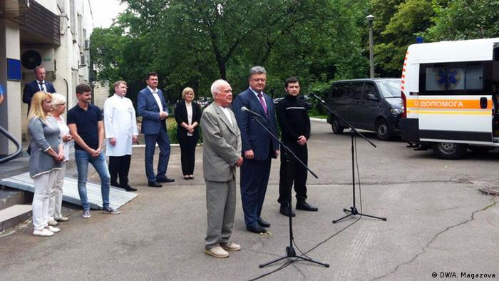 Юрій Солошенко (л), Петро Порошенко (ц) та Геннадій Афанасьєв (п)