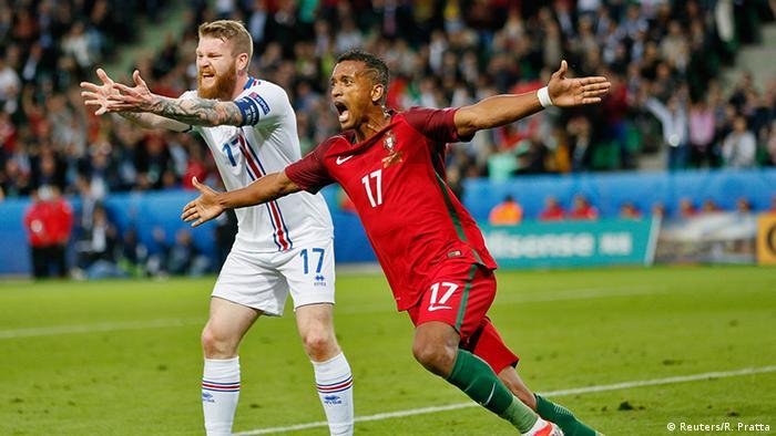 18351eb34558d Nani festeja o seu golo contra a Islândia no primeiro jogo de Portugal do  Euro2016 (resultado final 1 1)