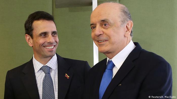 Brasilien Henrique Capriles und Jose Serra in Brasilia