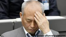 07.06..2016 ©Kyodo/MAXPPP - 07/06/2016 ; Tokyo Gov. Yoichi Masuzoe attends a session of the Tokyo metropolitan assembly in the capital on June 7, 2016. Members of the assembly grilled Masuzoe over his alleged misuse of public money, a day after an investigative report into the matter found his use of political funds on a number of occasions was improper but not illegal. (Kyodo) ==Kyodo Copyright: picture-alliance/dpa/MAXPPP