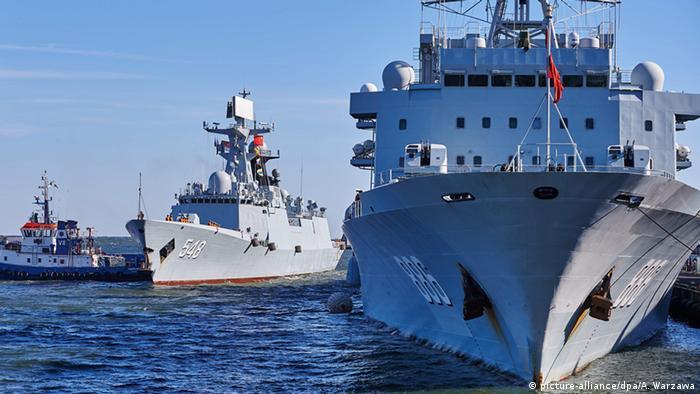Polen chinesisches Marineschiff Qiandaohu im Hafen von Gdynia