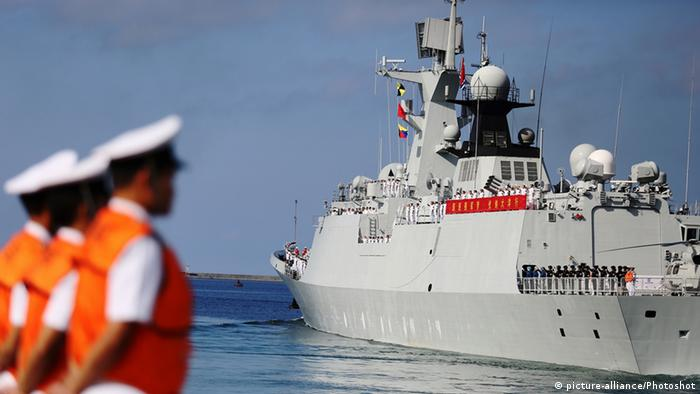 A Chinese naval vessel
