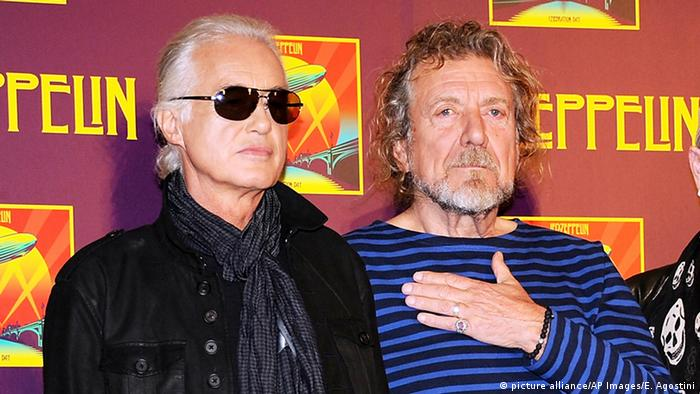 Led Zeppelin Bandmitglieder Jimmy Page (links) und Robert Plant (rechts) (Foto: dpa)