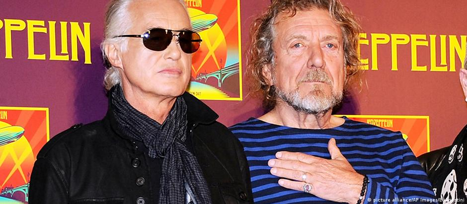 Jimmy Page e Robert Plant no tribunal em Los Angeles