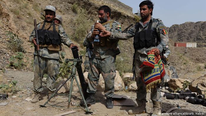 Afghanistan Grenzsoldaten Grenze zu Pakistan