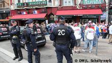 Polizei in Lille, anlässlich des Spiels Russland - Slowakei während der EM 2016 in Frankreich DW, Lars Scholtyssyk, 15.06.2016 © DW/L. Scholtyssyk