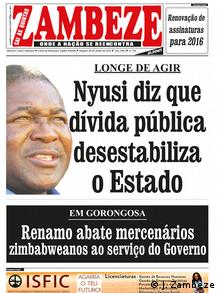 Cover von Zambeze Zeitung, Mosambik