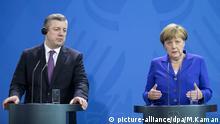 Angela Merkel und georgischer Minister Giorgi Kvirikashvili
