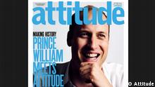 Screenshot Attitude Magazin Schwulenmagazin Prinz William