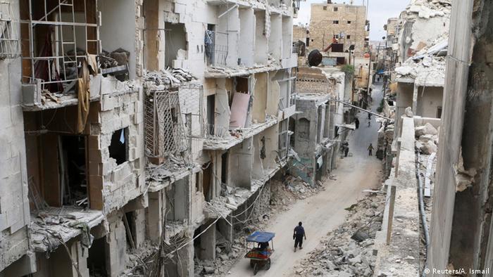 Syrien Zerstörung in der Altstadt von Aleppo