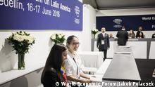 Kolumbien Weltwirtschaftsforum Lateinamerika in Medellin