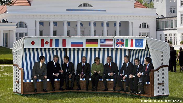 Heiligendamm G8-Gipfel 2007 Gruppenbild