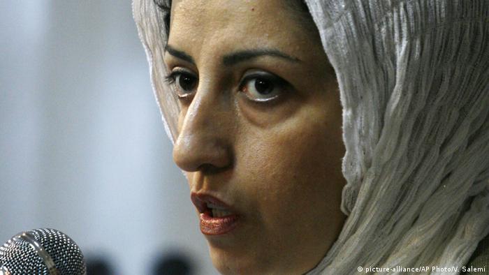 Narges Mohammadi inranische Menschenrechtsaktivistin (picture-alliance/AP Photo/V. Salemi)