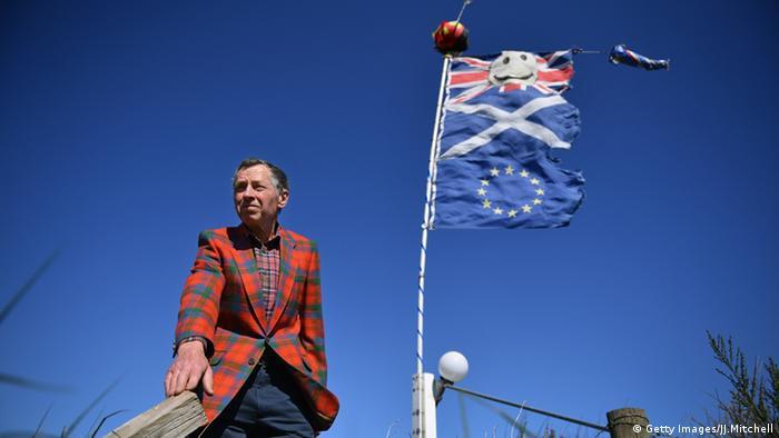 флаги Великобритании, Шотландии и ЕС