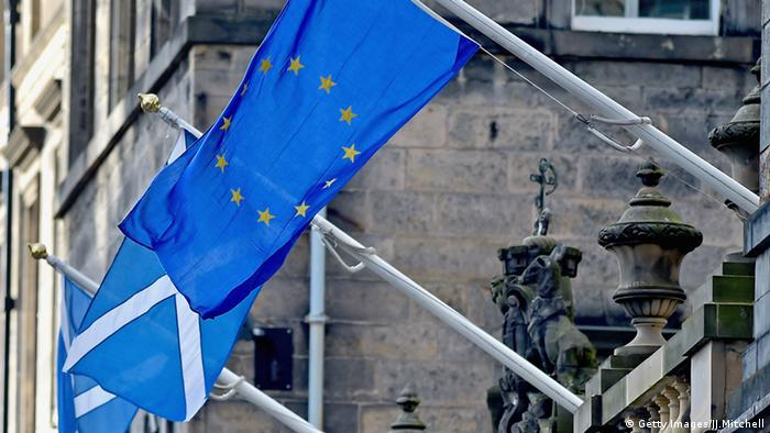 EU and Scottish flags