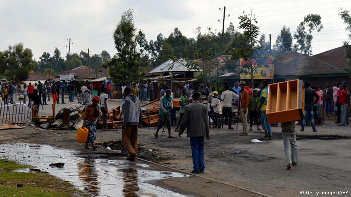 Oromos protesting in the Oromya region
