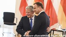 Deutschland Berlin Joachim Gauck und Andrzej Duda , Polnischer Präsident