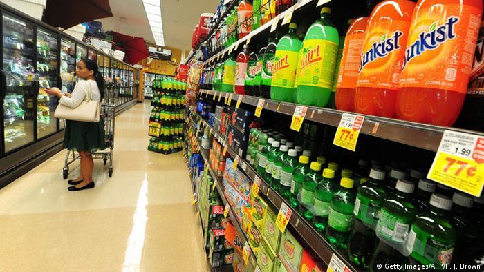 USA Supermarkt Softdrinks Zucker Steuer
