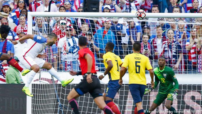 Copa America 2016 Ecuador vs USA Tor Dempsey