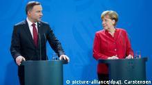 Deutschland Angela Merkel und Andrzej Duda in Berlin