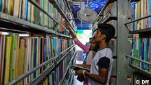 Bishwo Shahitto Kendro, a non-profit institution in Bangladesh, promotes reading habits, enlightenment and progressive ideas among students and general public. Popularly known as just Bhrammaman Library (mobile library), this institution was established by famous writer, television presenter, organiser, and activist Abdullah Abu Sayeed. (c) DW