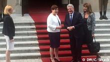 Polen Treffen Joachim Gauck mit Beate Szydlo