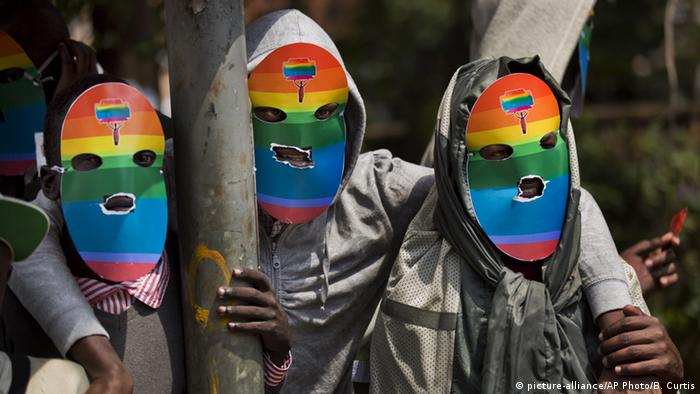 Diskrimieriung gegen Homosexuelle in Afrika (picture-alliance/AP Photo/B. Curtis)