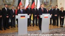 Polen Treffen Joachim Gauck mit Andrzej Duda