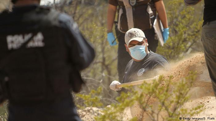 Mexiko Drogenverbrechen Tatort Juarez (Getty Images/S. Platt)