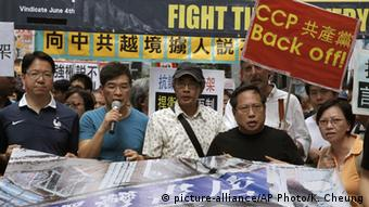 Hongkong Protest Buchhändler Lam Wing-kee (picture-alliance/AP Photo/K. Cheung)