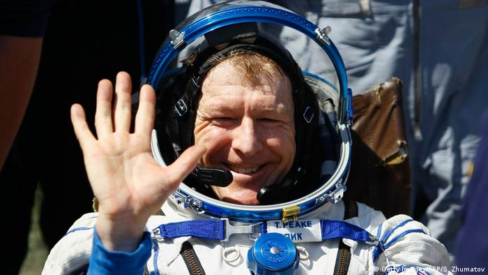 Tim Peake in his astronaut suit. (Photo: SHAMIL ZHUMATOV/AFP/Getty Images)