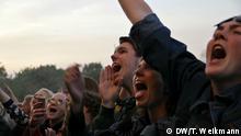 Angaben für Artikelbild 2 Bildunterschrift: In Ekstase: Fans von Lukas Graham geben alles. Schlagworte: Festival, NorthSide, Aarhus, Konzert, Publikum Wer oder was: Konzertpublikum bei Lukas Graham Fotografin: Teresa Weikmann Ort: Aarhus, Dänemark Datum: 17-06-2016 Veranstaltung: NorhtSide Festival