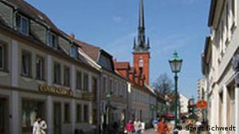 Main street in Schwedt