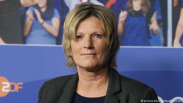 Claudia Neumann, sports reporter and commentator for ZDF