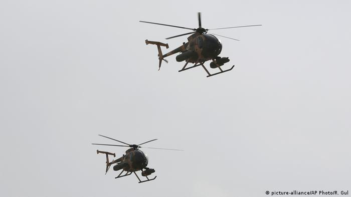Militärhubschrauber MD-530 (picture-alliance/AP Photo/R. Gul)