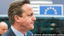 Großbritannien Premierminister David Cameron NEU