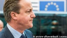 17.03.2016 *** FILE - Britain's Prime Minister David Cameron arrives for a two-days European Union leaders summit in Brussels, Belgium, 17 March 2016. EPA/STEPHANIE LECOCQ (zu dpa «EU, Soziales, Kronprinz-Streit: Britische Tories in der Krise» vom 20.03.2016) +++(c) dpa - Bildfunk+++ © picture-alliance/dpa/S. Lecocq
