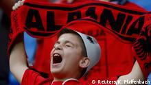 19. Juni 2016 Football Soccer - Romania v Albania - EURO 2016 - Group A - Stade de Lyon, Lyon, France - 19/6/16 Albanian fan before the match REUTERS/Kai Pfaffenbach copyright: Reuters/K. Pfaffenbach