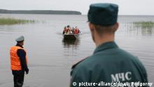 Russland Ertrunkene Kinder im See Sjamosero